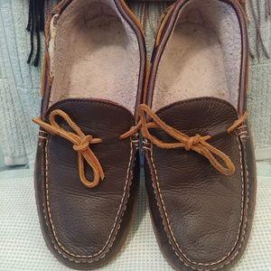 LL Bean men's Moccasins, 10, leather